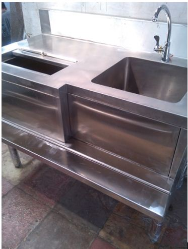 Cooktail Station With Sink Stainless Steel