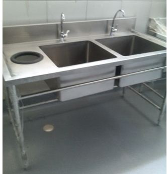 Double Sink With Trash Hole