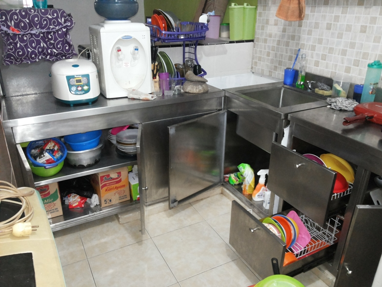 Kitchen Set Stainless, Dapur Stainless Steel