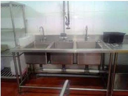 Triple Sink Stainless